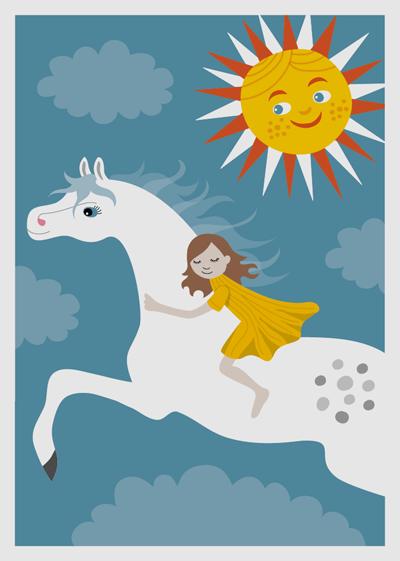 affisch, poster, djur, häst