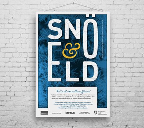 Formgivning av affisch, flyer och program till en teateruppsättning designer formgivare