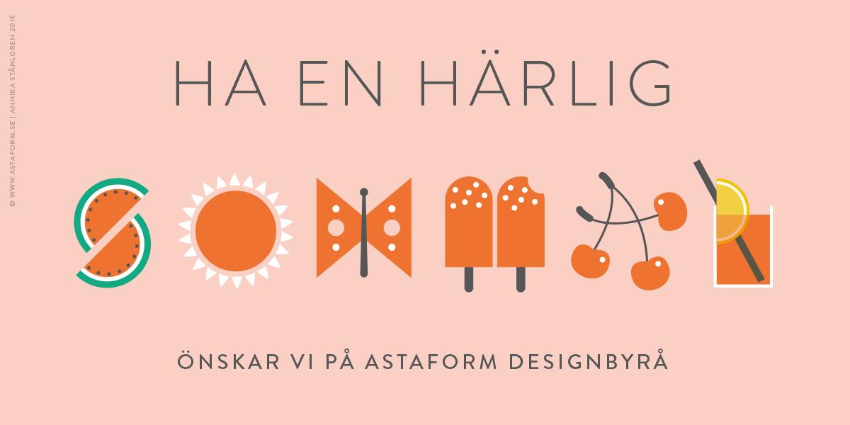 illustration astaform designbyrå reklambyrå stockholm lidingö grafisk design formgivningsommarhälsning