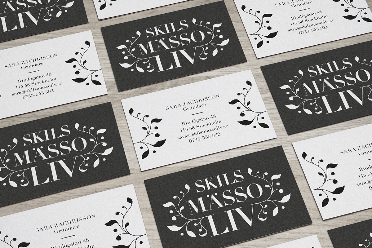 formgivning av visitkort grafisk profil identitet av astaform designbyrå reklambyrå stockholm lidingö grafisk formgivning design företagsprofil